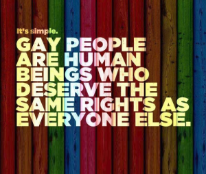 Gays are equal